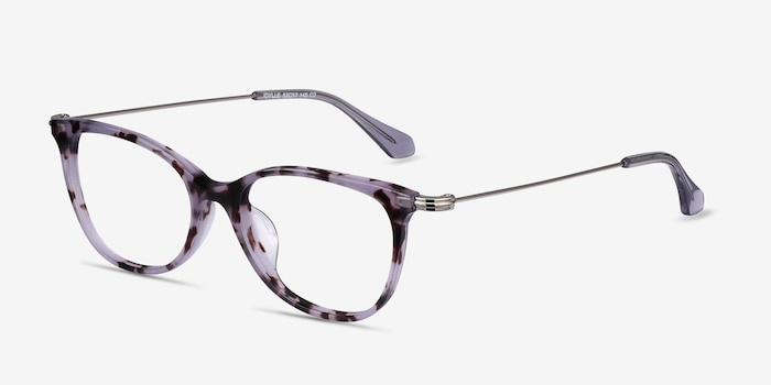 Idylle Purple Tortoise Acetate Eyeglass Frames from EyeBuyDirect, Angle View