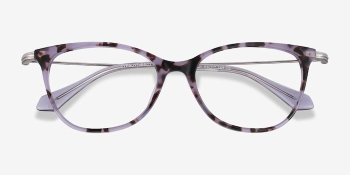 Idylle Purple Tortoise Acétate Montures de Lunettes d'EyeBuyDirect, Vue Rapprochée