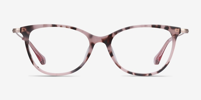 Idylle Pink Tortoise Acetate Eyeglass Frames from EyeBuyDirect, Front View