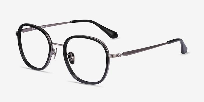 Beyond Black Acetate Eyeglass Frames from EyeBuyDirect, Angle View