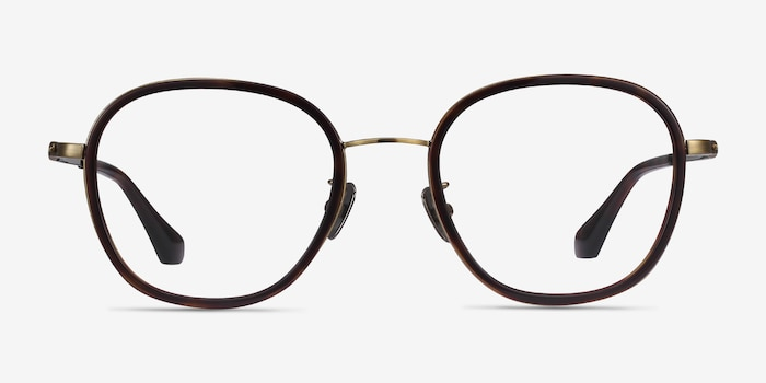 Beyond Dark Tortoise Acetate Eyeglass Frames from EyeBuyDirect, Front View