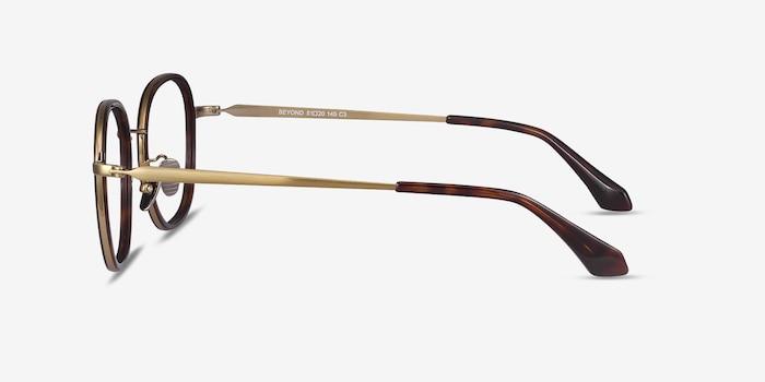 Beyond Dark Tortoise Acetate Eyeglass Frames from EyeBuyDirect, Side View