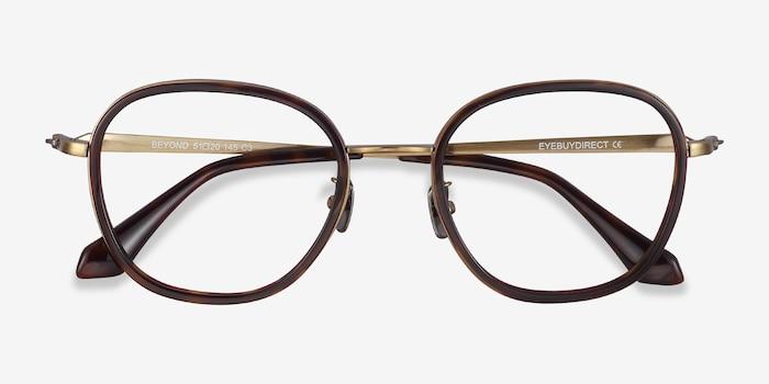 Beyond Dark Tortoise Acetate Eyeglass Frames from EyeBuyDirect, Closed View