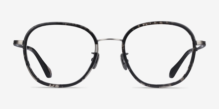 Beyond Gray Floral Acetate Eyeglass Frames from EyeBuyDirect, Front View