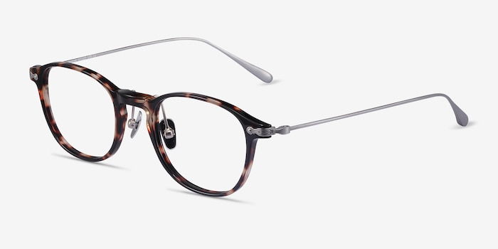 Malva Tortoise Acetate Eyeglass Frames from EyeBuyDirect, Angle View