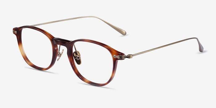 Malva Brown Tortoise Acetate Eyeglass Frames from EyeBuyDirect, Angle View