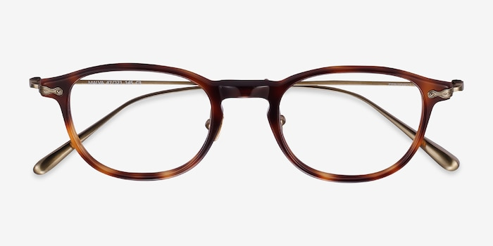 Malva Brown Tortoise Acetate Eyeglass Frames from EyeBuyDirect, Closed View