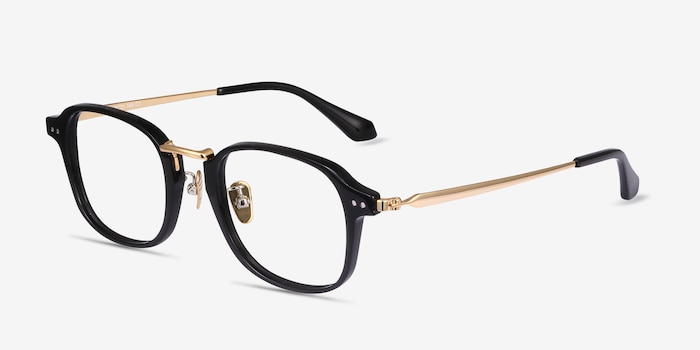 Lalo Black Acetate Eyeglass Frames from EyeBuyDirect, Angle View