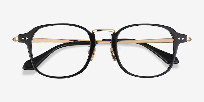 Lalo Black Acetate Eyeglass Frames from EyeBuyDirect, Closed View
