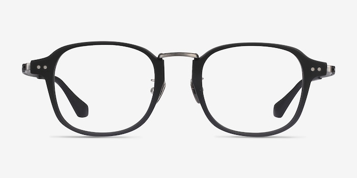 Lalo Matte Black Acetate Eyeglass Frames from EyeBuyDirect, Front View