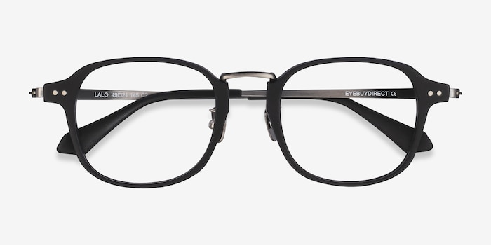 Lalo Matte Black Acetate Eyeglass Frames from EyeBuyDirect, Closed View