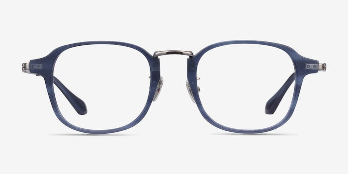 Lalo Blue Acetate Eyeglass Frames from EyeBuyDirect, Front View