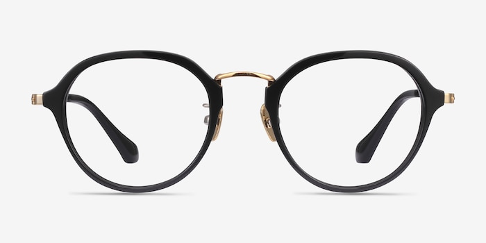 Impact Black Acetate Eyeglass Frames from EyeBuyDirect, Front View