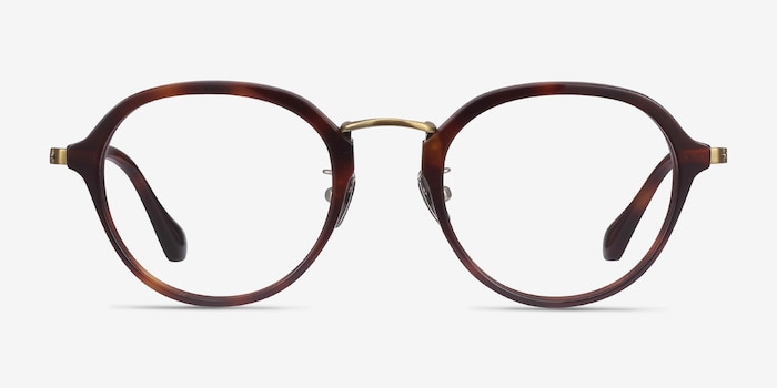 Impact Tortoise Acetate Eyeglass Frames from EyeBuyDirect, Front View