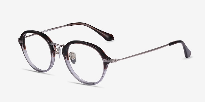 Impact Striped Acetate Eyeglass Frames from EyeBuyDirect, Angle View