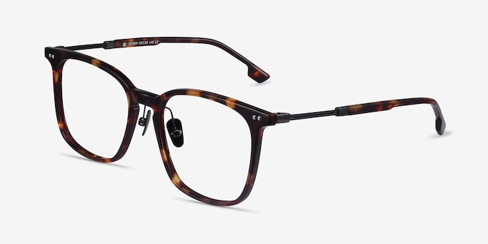 Cohen Tortoise Acetate-metal Eyeglass Frames from EyeBuyDirect, Angle View