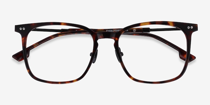 Cohen Tortoise Acetate-metal Eyeglass Frames from EyeBuyDirect, Closed View