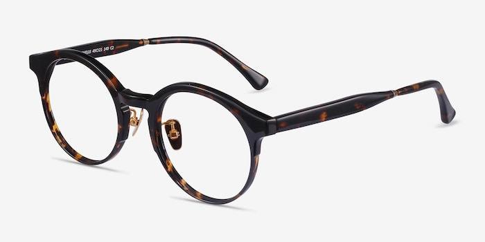 Rochelle Tortoise Acetate Eyeglass Frames from EyeBuyDirect, Angle View