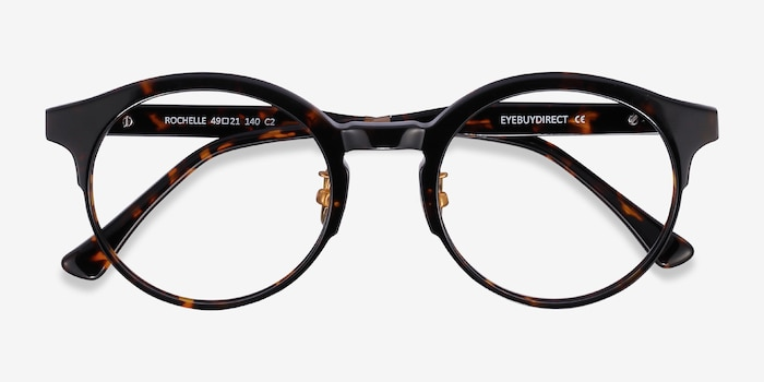 Rochelle Tortoise Acetate Eyeglass Frames from EyeBuyDirect, Closed View