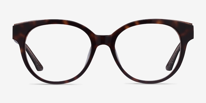 Vee Tortoise Acetate Eyeglass Frames from EyeBuyDirect, Front View