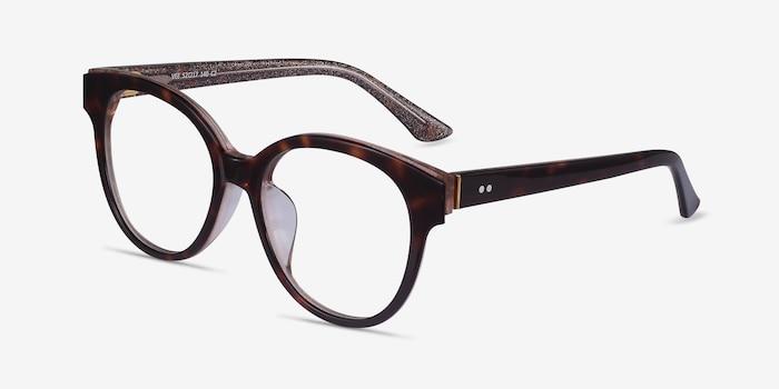 Vee Tortoise Acetate Eyeglass Frames from EyeBuyDirect, Angle View
