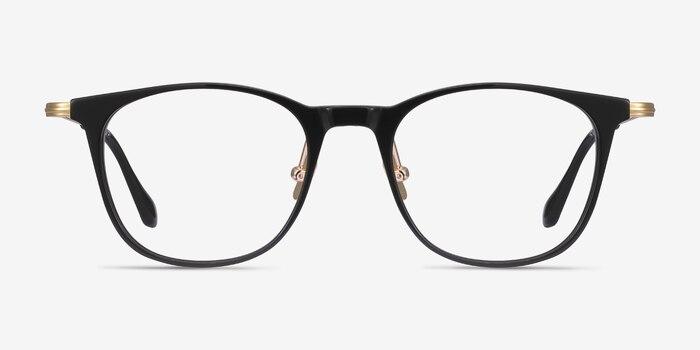 Walker Black Acetate Eyeglass Frames from EyeBuyDirect, Front View