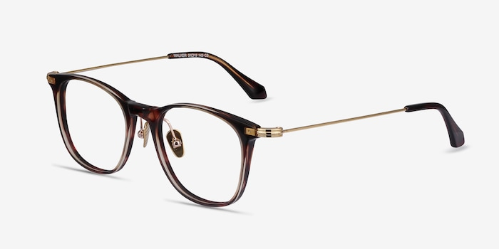 Walker Tortoise Metal Eyeglass Frames from EyeBuyDirect, Angle View