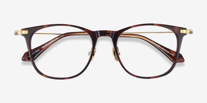 Walker Tortoise Acetate Eyeglass Frames from EyeBuyDirect, Closed View