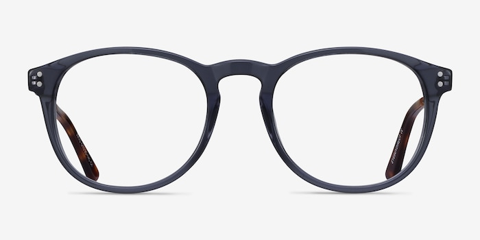 Akio Gray Acetate Eyeglass Frames from EyeBuyDirect, Front View