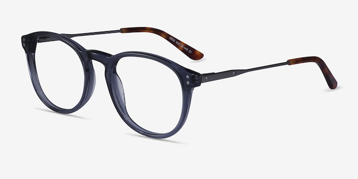 Akio Gray Acetate Eyeglass Frames from EyeBuyDirect, Angle View