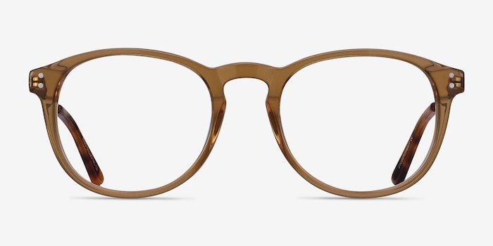Akio Yellow Acetate Eyeglass Frames from EyeBuyDirect, Front View