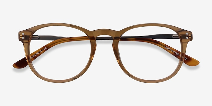Akio Yellow Acetate Eyeglass Frames from EyeBuyDirect, Closed View
