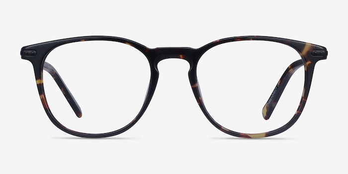 Villeneuve Tortoise Acetate Eyeglass Frames from EyeBuyDirect, Front View