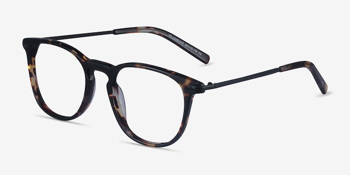 Villeneuve Tortoise Acetate Eyeglass Frames from EyeBuyDirect, Angle View