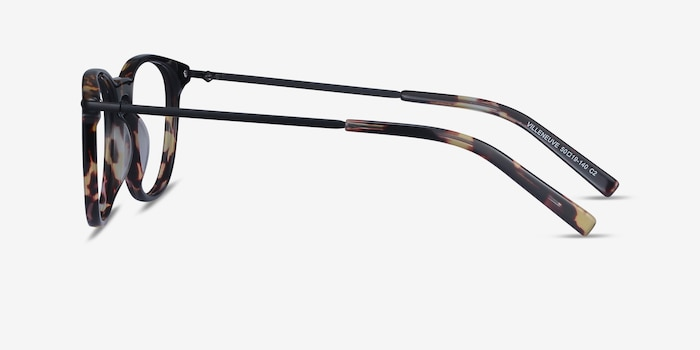 Villeneuve Tortoise Acetate Eyeglass Frames from EyeBuyDirect, Side View