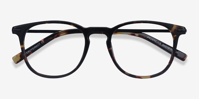 Villeneuve Tortoise Acetate Eyeglass Frames from EyeBuyDirect, Closed View