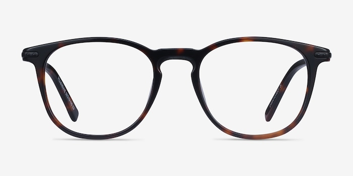 Villeneuve Dark Tortoise Metal Eyeglass Frames from EyeBuyDirect, Front View