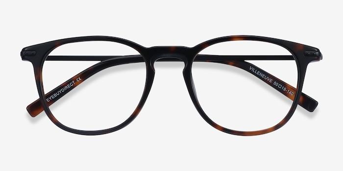 Villeneuve Dark Tortoise Acetate Eyeglass Frames from EyeBuyDirect, Closed View