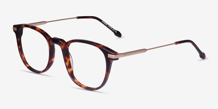 Giverny Tortoise Acetate-metal Eyeglass Frames from EyeBuyDirect, Angle View