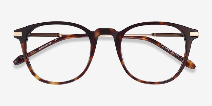 Giverny Tortoise Acetate-metal Eyeglass Frames from EyeBuyDirect, Closed View
