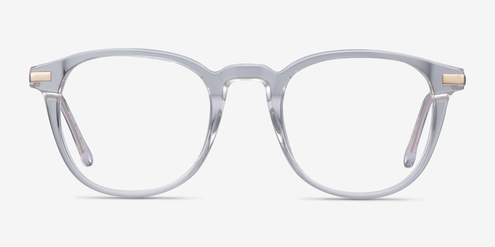 Giverny Clear Acetate-metal Eyeglass Frames from EyeBuyDirect, Front View