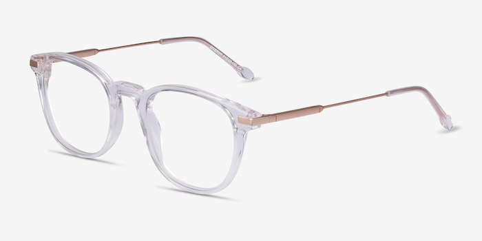 Giverny Clear Acetate Eyeglass Frames from EyeBuyDirect, Angle View