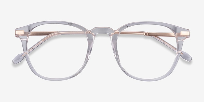 Giverny Clear Acetate Eyeglass Frames from EyeBuyDirect, Closed View