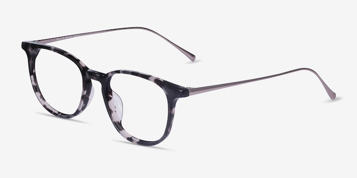 Ballad Tortoise Acetate Eyeglass Frames from EyeBuyDirect, Angle View
