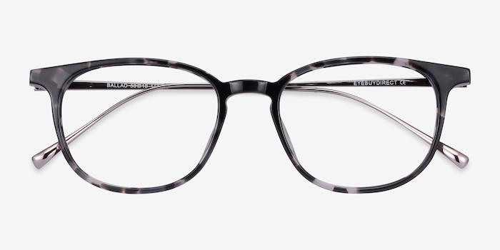 Ballad Tortoise Acetate Eyeglass Frames from EyeBuyDirect, Closed View