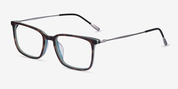 Cameron Tortoise Metal Eyeglass Frames from EyeBuyDirect, Angle View