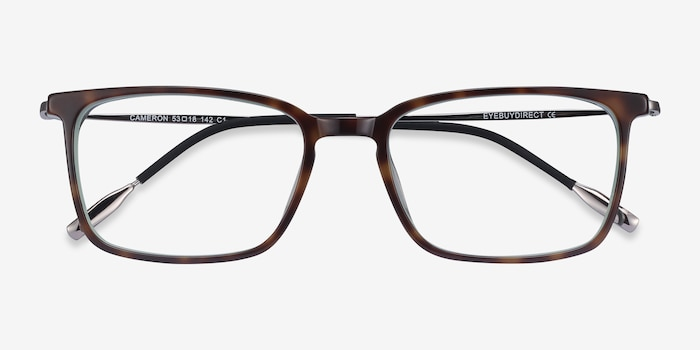 Cameron Tortoise Metal Eyeglass Frames from EyeBuyDirect, Closed View