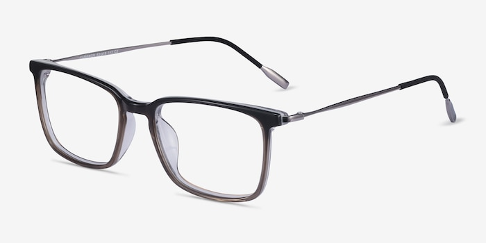 Cameron Brown Metal Eyeglass Frames from EyeBuyDirect, Angle View