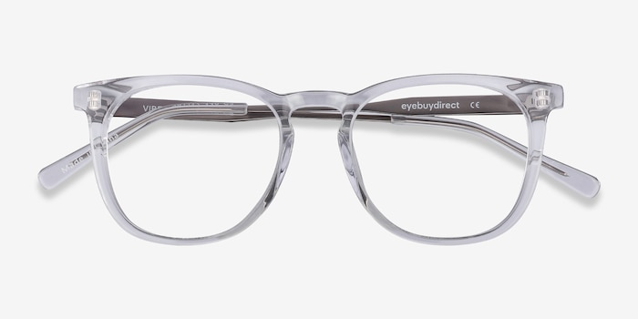 Vibes Clear Metal Eyeglass Frames from EyeBuyDirect, Closed View