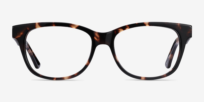 Story Tortoise Acetate Eyeglass Frames from EyeBuyDirect, Front View